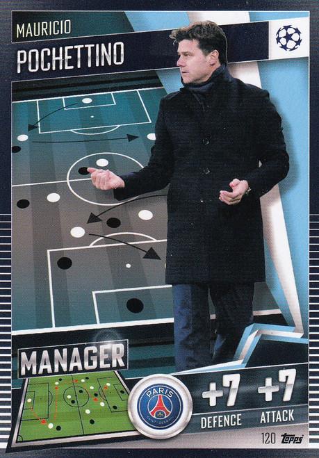#120 Mauricio Pochettino (Paris Saint- Germain) Match Attax 101 2020/21 MANAGER