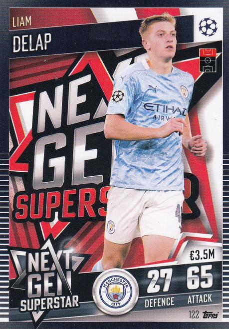 #122  Liam Delap (Manchester City) Match Attax 101 2020/21 NEXT GEN SUPERSTAR