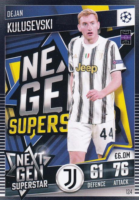 #124 Dejan Kulusevski (Juventus) Match Attax 101 2020/21 NEXT GEN SUPERSTAR