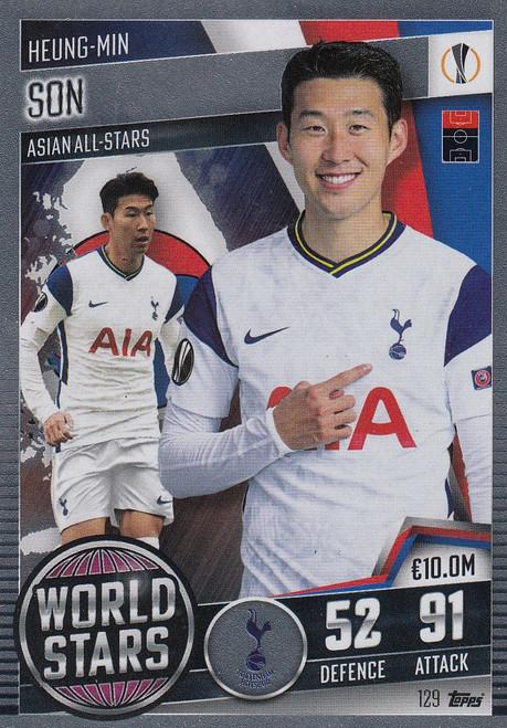 #129 Heung-Min Son (Tottenham Hotspur) Match Attax 101 2020/21 WORLD STAR