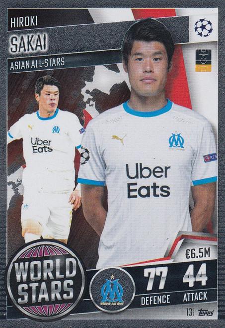 #131 Hiroki Sakai (Olympique de Marseille) Match Attax 101 2020/21 WORLD STAR