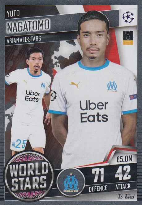 #132 Yüto Nagatomo (Olympique de Marseille) Match Attax 101 2020/21 WORLD STAR