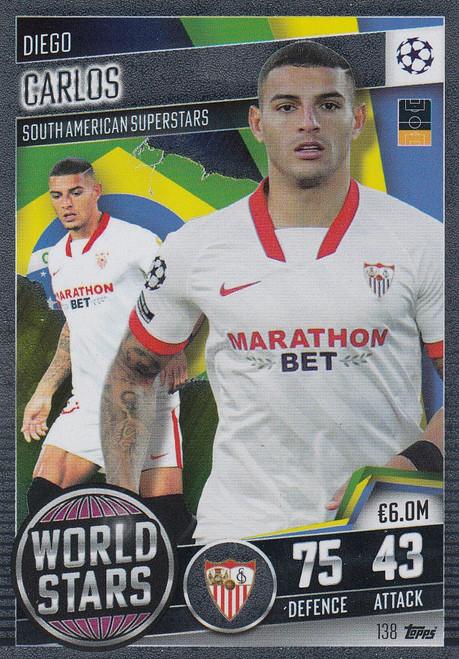 #138 Diego Carlos (Sevilla FC) Match Attax 101 2020/21 WORLD STAR