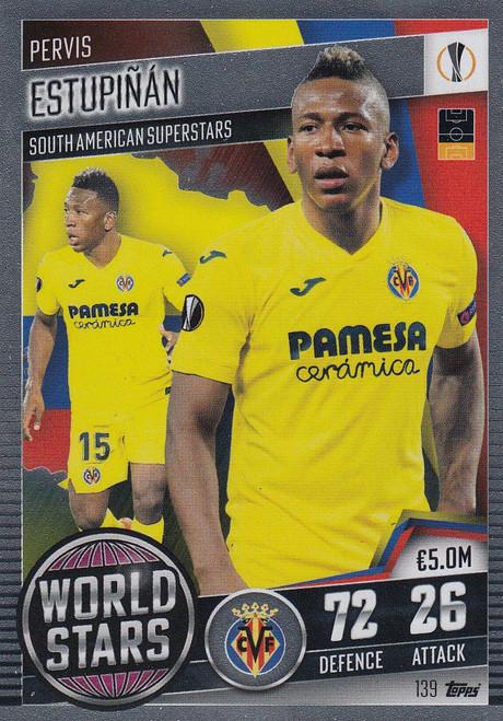 #139 Pervis Estupiñán (Villarreal CF) Match Attax 101 2020/21 WORLD STAR