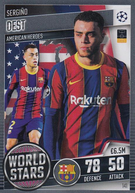 #141 Sergiño Dest (FC Barcelona) Match Attax 101 2020/21 WORLD STAR