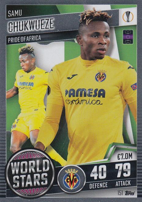 #151 Samu Chukwueze (Villarreal CF) Match Attax 101 2020/21 WORLD STAR