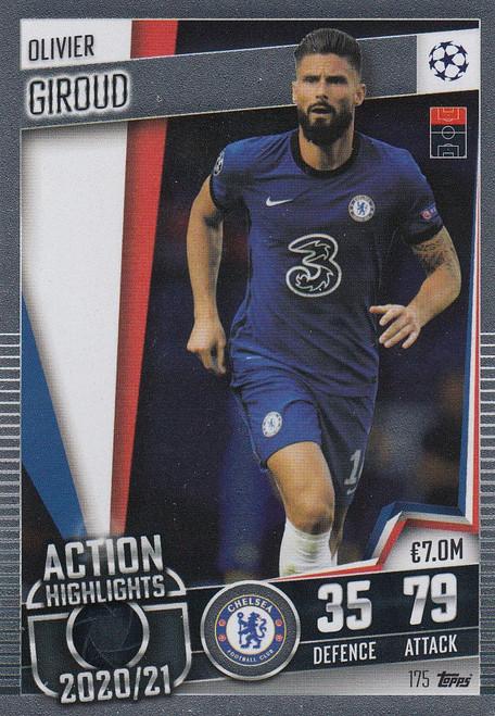 #175 Olivier Giroud (Chelsea) Match Attax 101 2020/21 ACTION HIGHLIGHT