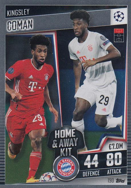 #190 Kingsley Coman (FC Bayern München) Match Attax 101 2020/21 HOME & AWAY KIT