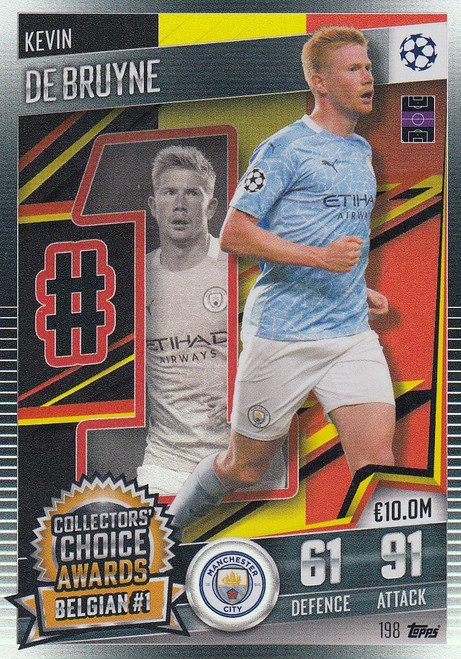 #198 Kevin De Bruyne (Manchester City) Match Attax 101 2020/21 COLLECTORS' CHOICE AWARDS