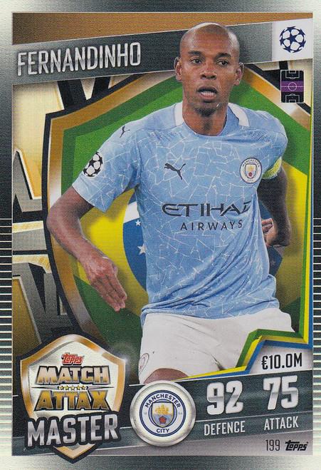 #199 Fernandinho (Manchester City) Match Attax 101 2020/21 MATCH ATTAX MASTER