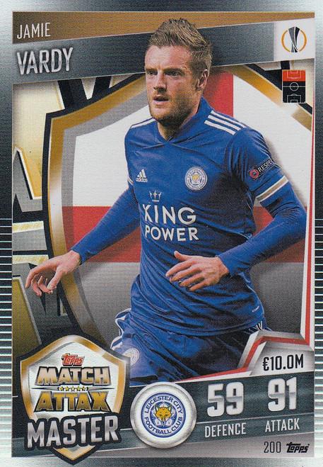 #200 Jamie Vardy (Leicester City) Match Attax 101 2020/21 MATCH ATTAX MASTER