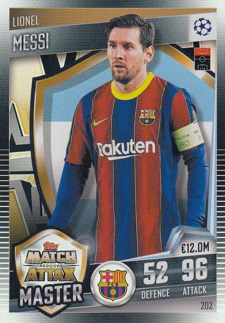 #202 Lionel Messi (FC Barcelona) Match Attax 101 2020/21 MATCH ATTAX MASTER