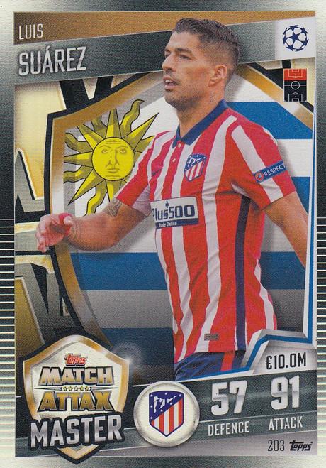 #203 Luis Suárez (Club Atlético de Madrid) Match Attax 101 2020/21 MATCH ATTAX MASTER