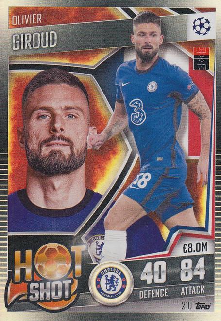 #210 Olivier Giroud (Chelsea) Match Attax 101 2020/21 HOT SHOT