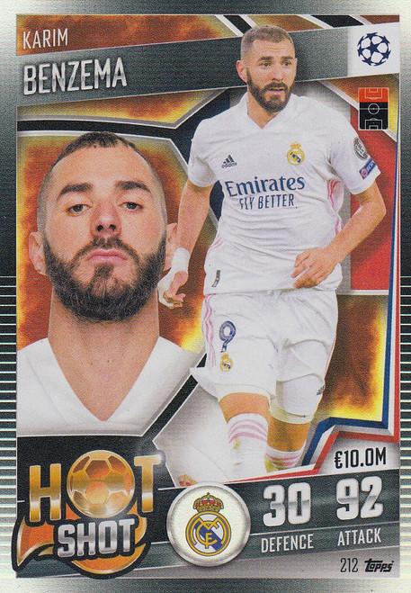 #212 Karim Benzema (Real Madrid CF) Match Attax 101 2020/21 HOT SHOT