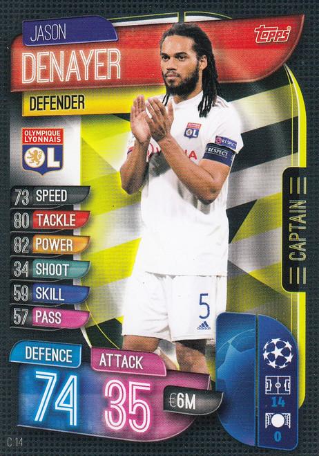 #C14 Jason Denayer (Olympique Lyonnais) Match Attax EXTRA 2019/20 CAPTAIN