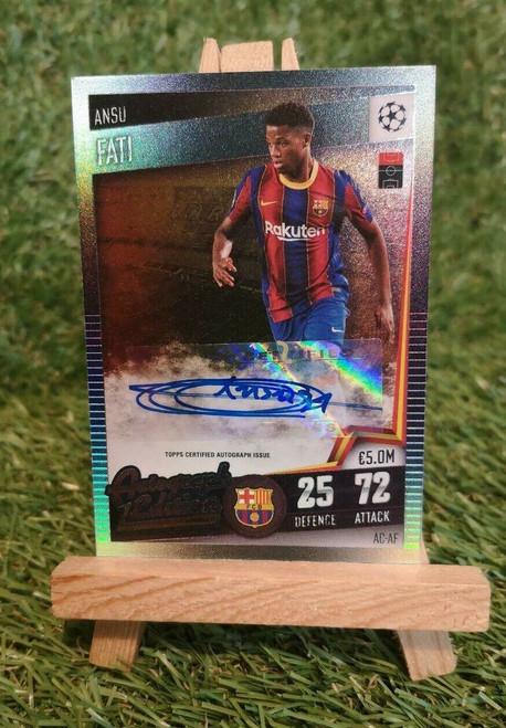 #AC-AF Ansu Fati (FC Barcelona) #51/100 Match Attax 101 2020/21 AUTOGRAPH EDITION