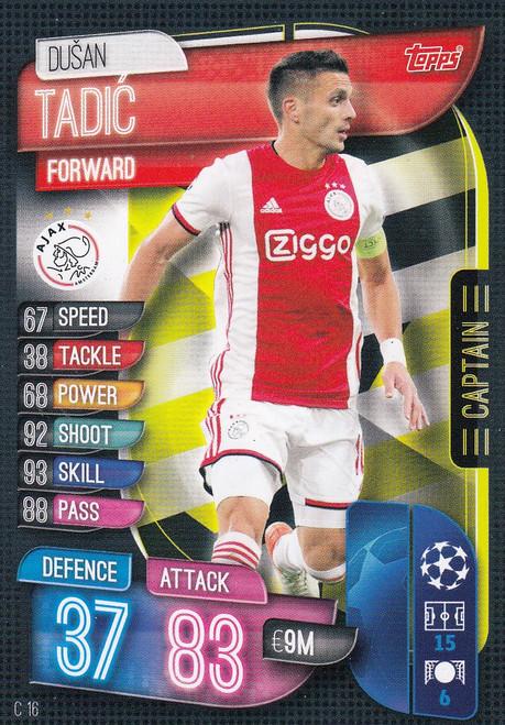 #C16 Dusan Tadic (AFC Ajax) Match Attax EXTRA 2019/20 CAPTAIN