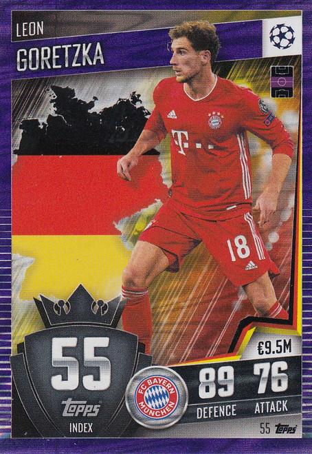 #55 Leon Goretzka (FC Bayern München) Match Attax 101 2020/21 PURPLE PARALLEL