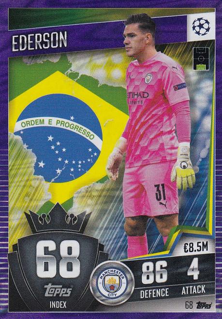 #68 Ederson (Manchester City) Match Attax 101 2020/21 PURPLE PARALLEL