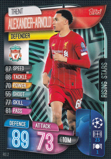 #RS2 Trent Alexander-Arnold (Liverpool FC) Match Attax EXTRA 2019/20 RISING STAR