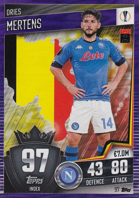 #97 Dries Mertens (SSC Napoli) Match Attax 101 2020/21 PURPLE PARALLEL
