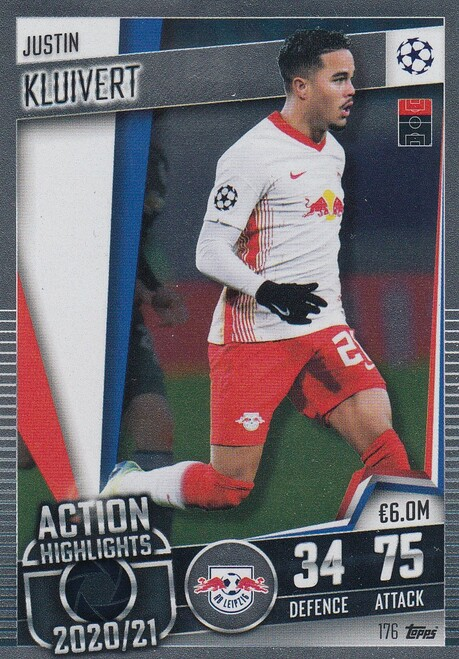 #176 Justin Kluivert (RB Leipzig) Match Attax 101 2020/21 ACTION HIGHLIGHT