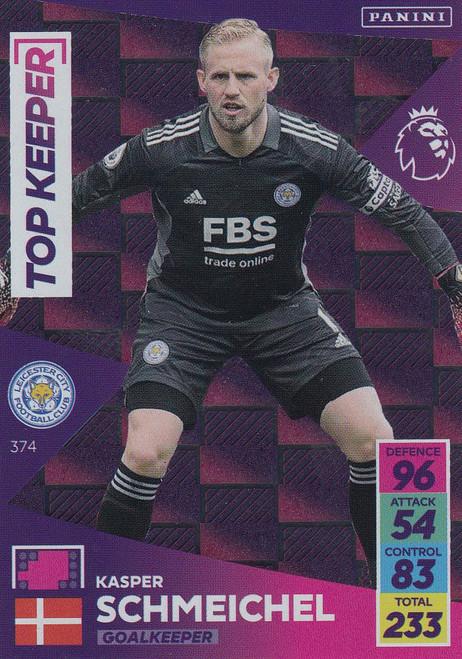 #373 Kasper Schmeichel (Leicester City) Adrenalyn XL Premier League 2021/22 TOP KEEPER