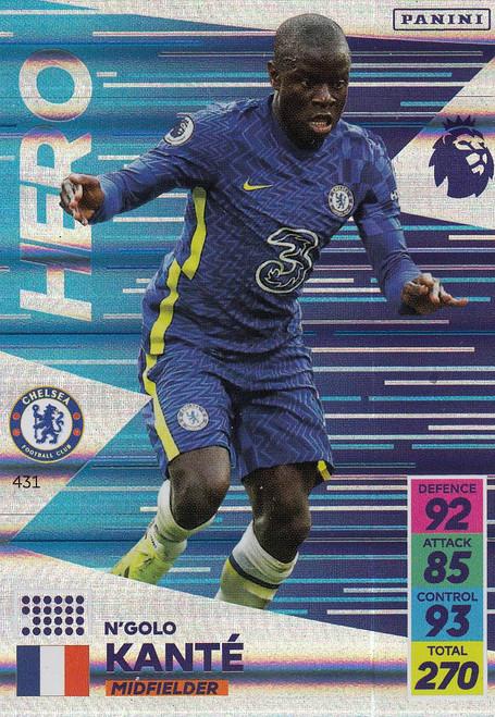 #431 N'Golo Kanté (Chelsea) Adrenalyn XL Premier League 2021/22 HERO