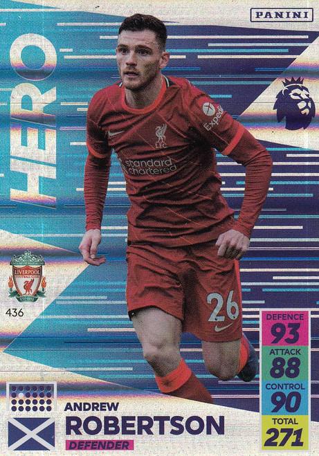 #436 Andrew Robertson (Liverpool) Adrenalyn XL Premier League 2021/22 HERO