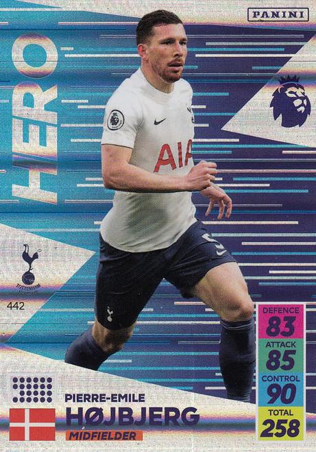 #442 Pierre-Emile Højbjerg (Tottenham Hotspur) Adrenalyn XL Premier League 2021/22 HERO