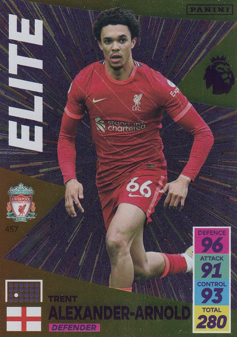 #457 Trent Alexander-Arnold (Liverpool) Adrenalyn XL Premier League 2021/22 ELITE