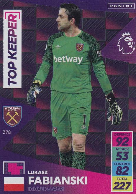 #378 Łukasz Fabiański (West Ham United) Adrenalyn XL Premier League 2021/22 TOP KEEPER