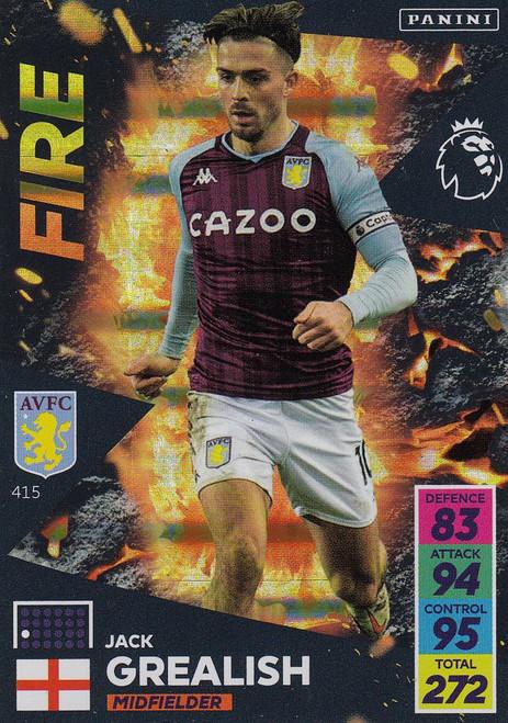 #415 Jack Grealish (Aston Villa) Adrenalyn XL Premier League 2021/22 FIRE