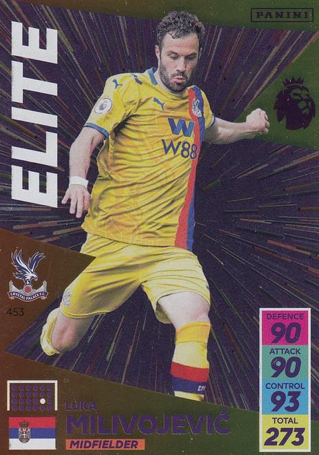 #453 Luka Milivojevic (Crystal Palace) Adrenalyn XL Premier League 2021/22 ELITE