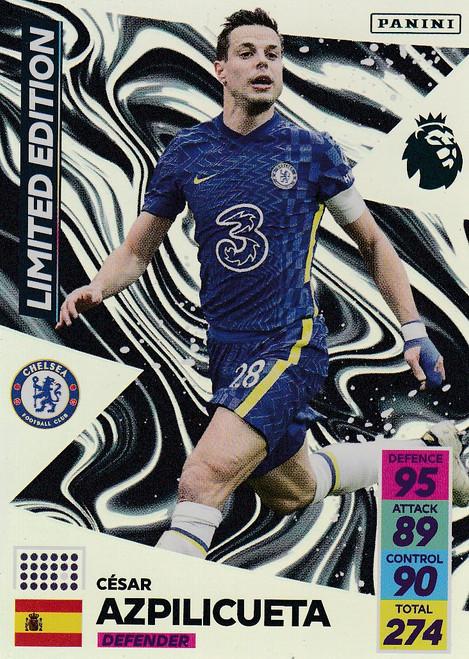 César Azpilicueta (Chelsea) Adrenalyn XL Premier League 2021/22 LIMITED EDITION