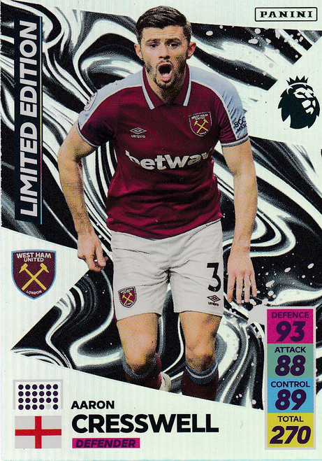 Aaron Cresswell (West Ham United) Adrenalyn XL Premier League 2021/22 LIMITED EDITION