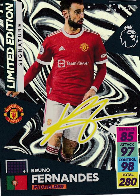 Bruno Fernandes (Manchester United) Adrenalyn XL Premier League 2021/22 SIGNATURE LIMITED EDITION
