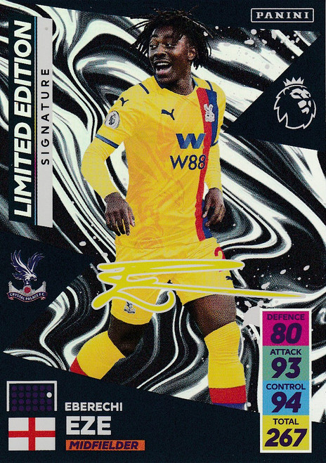 Eberechi Eze (Crystal Palace)  Adrenalyn XL Premier League 2021/22 SIGNATURE LIMITED EDITION