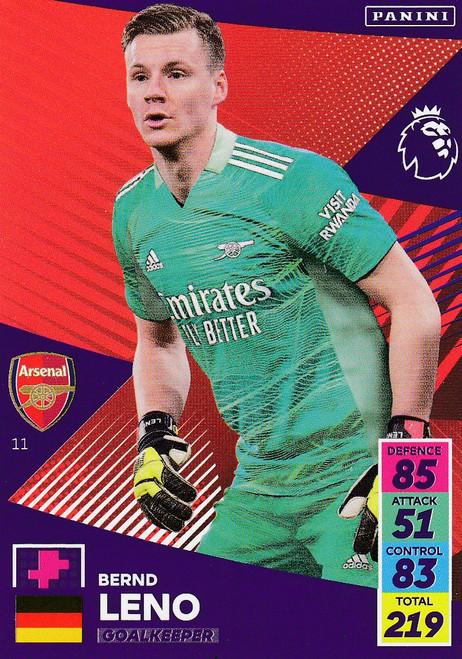 #11 Bernd Leno (Arsenal) Adrenalyn XL Premier League 2021/22