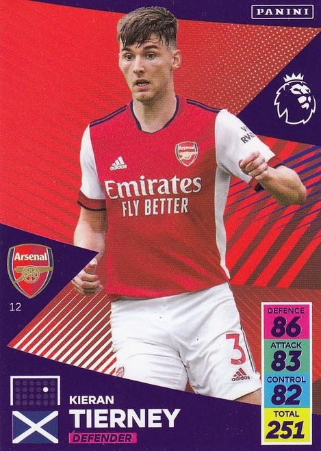 #12 Kieran Tierney (Arsenal) Adrenalyn XL Premier League 2021/22