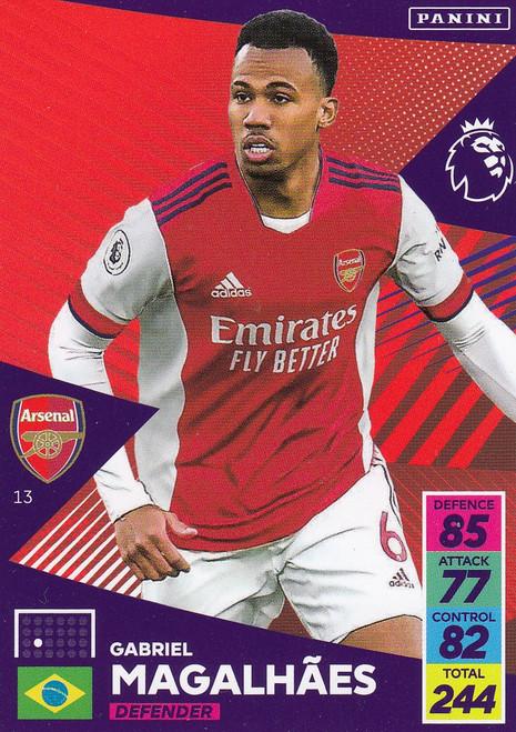 #13 Gabriel Magalhães (Arsenal) Adrenalyn XL Premier League 2021/22