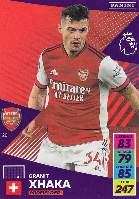 #20 Granit Xhaka (Arsenal) Adrenalyn XL Premier League 2021/22