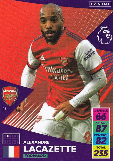 #21 Alexandre Lacazette (Arsenal) Adrenalyn XL Premier League 2021/22