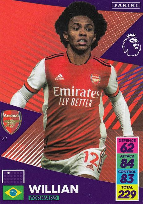 #22 Willian (Arsenal) Adrenalyn XL Premier League 2021/22