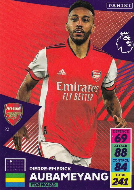 #23 Pierre-Emerick Aubameyang (Arsenal) Adrenalyn XL Premier League 2021/22