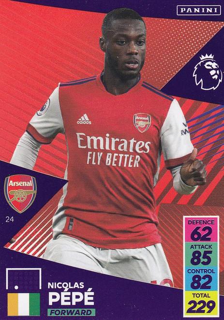 #24 Nicolas Pépé (Arsenal) Adrenalyn XL Premier League 2021/22