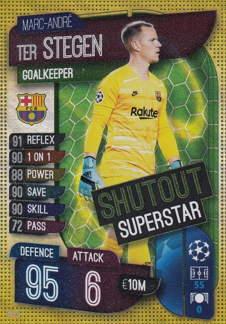 #SO4 Marc-Andre Ter Stegen (FC Barcelona) Match Attax EXTRA 2019/20 SHUTOUT SUPERSTAR