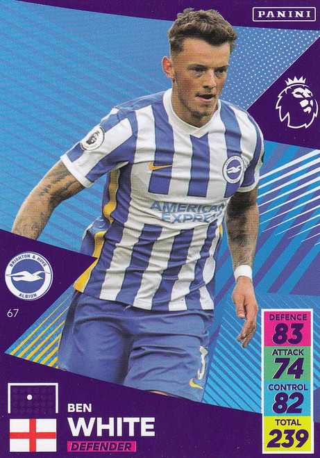 #67 Ben White (Brighton & Hove Albion) Adrenalyn XL Premier League 2021/22