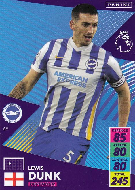 #69 Lewis Dunk (Brighton & Hove Albion) Adrenalyn XL Premier League 2021/22